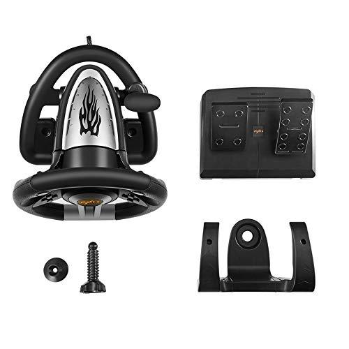 Volante de Juego de Carreras PXN V3II con Pedal de Freno para PC / PS3 / PS4 / Xbox One/Switch - Negro