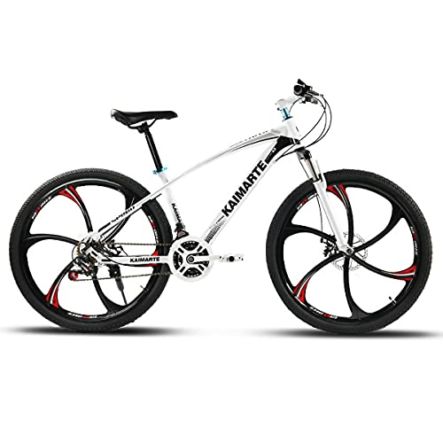 21/24/27 Speed Adult Double Disc Brake Full Suspension Outdoor Sports Off-Road Bike High Carbon Steel Frame 24/26' Mountain Bike