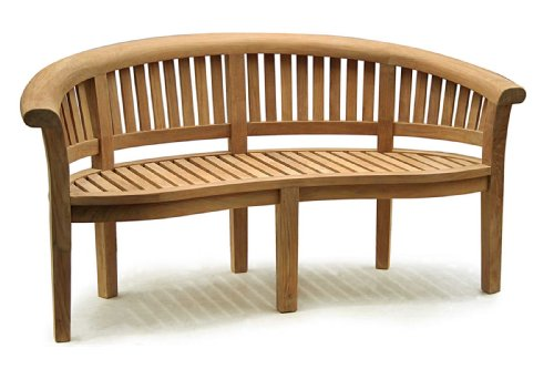 Fantastic How To Deluxe Teak Banana Bench Curved Wooden Benches With Lamtechconsult Wood Chair Design Ideas Lamtechconsultcom