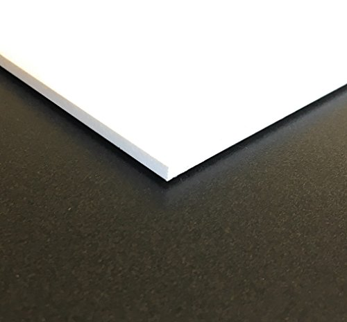 Expanded PVC Sheet – Lightweight Rigid Foam – 3mm (1/8 inch) – 24 x 48 inches – White – Ideal for Signage, Displays, and Digital/Screen Printing