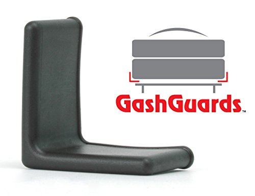 "1 1/2"" GashGuards: Deluxe Plastic Bed Frame End Caps, Sheet Savers, Set of 2"