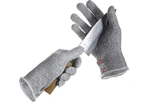 DR SAFETY Schnittschutzhandschuhe Grau I Schnitthemmende Handschuhe - EN388 zertifiziert I Hochwertige Arbeitshandschuhe aus HPPE-Fasern mit Level 5 Schnittschutz I Filetierhandschuh - 1 Paar (S)