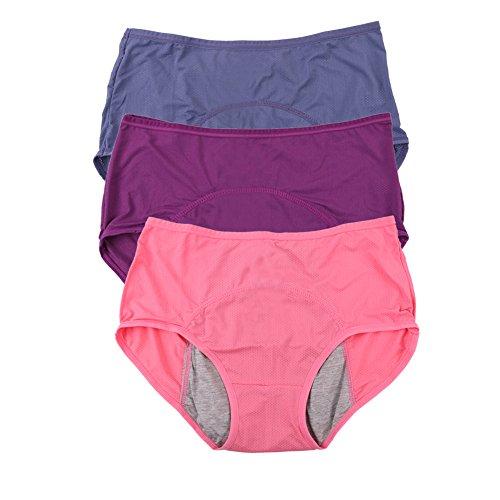 Vrouwen mesh gaten ademend lekvrij periode broekjes Multi Pack: 36-50