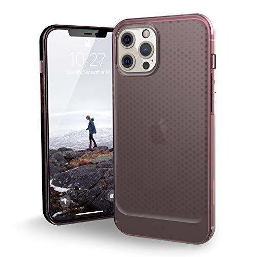 """Urban Armor Gear U by UAG [U] Lucent Case Apple iPhone 12 Pro MAX (6,7"""") Funda Protectora (Semitransparente, Compatible con la Carga inalámbrica, Resistente a los Golpes) - Dusty Rose (Transparente)"""