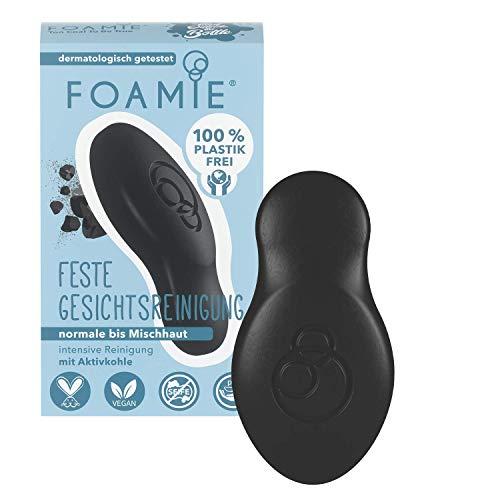 Foamie - Feste Gesichtsreinigung | 80g | Für unreine Haut - pH-optimiert | klärende Aktivkohle und antibakterielles Teebaumöl | 100% vegan - ohne Plastik - keine Tierversuche