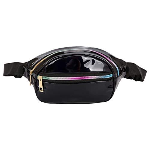 Vssictor Fanny Pack Sac banane poche poitrine réglable pour homme femme holographique grande capacité décontracté sac à bandoulière pour voyage randonnée course sports de plein air