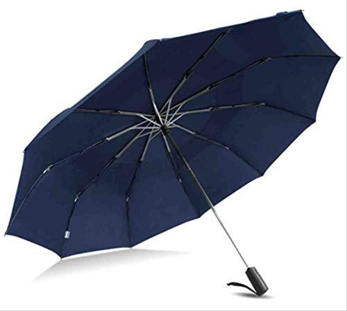 QNBD Starke Windbeständige männer 125 cm Großen Regenschirm männer Qualität Falten Automatische Regen Regenschirme Werbegeschenk DoppelschichtBlau