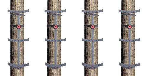 Big Dog Tree Steps Strap to Tree for Easy Tree Climbing, 4-Pack