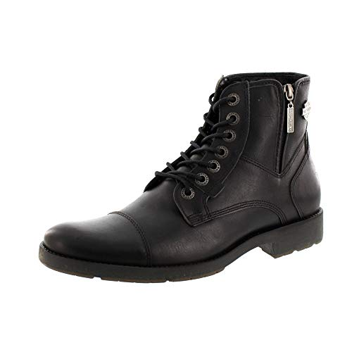 Harley Davidson D51024 Maine Herren Biker Boots Stiefelette Black Schwarz, Groesse:44EU / 10UK / 11US / 29 cm