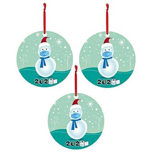 3PC 2020 Christmas Ornaments Hanging Decoration Gift Product Personalized Family Ornaments for Christmas Trees
