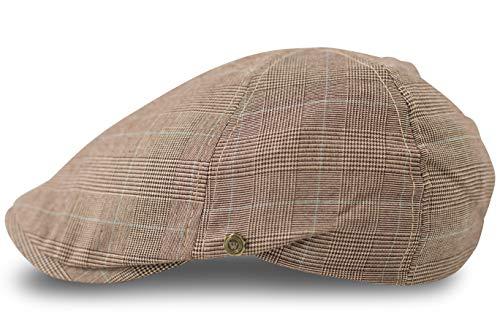 fashionchimp ® Flat-Cap Schiebermütze in Leichter Sommer-Qualität, Golfermütze (Beige)
