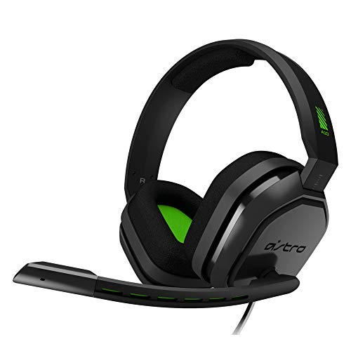 ASTRO Gaming A10 Auriculares alámbricos, ligeros y resistentes, ASTRO Audio, Dolby ATMOS, clavija de 3.5mm, para Xbox Series X|S, Xbox One, PS5, PS4, Nintendo Switch, PC, Mac, móvil - Negro/Ve