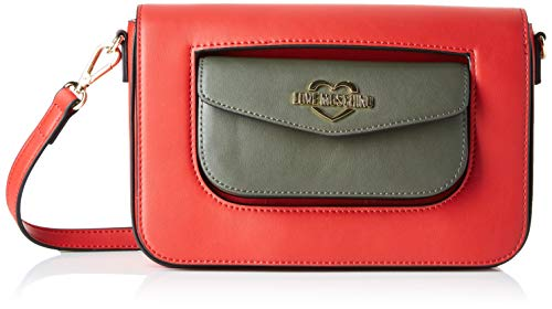 Love Moschino Jc4055pp18lg150a, Bolsa de mensajero Unisex Adulto, Rojo (Rosso/Verde), 15x5x24 centimeters (W x H x L)