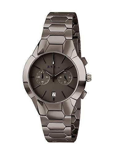 BREIL - Orologio da Donna Collezione NEW ONE TW1851 - Cronografo Donna Impermeabile - Orologio da Polso in Acciaio - Quadrante e Bracciale Gun