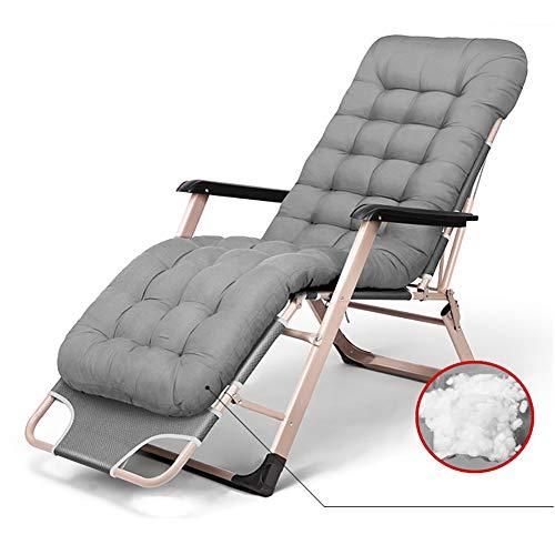 Fauteuils de salon inclinables Chaise de jardin Zero Gravity surdimensionnée pour personnes très exigeantes, chaise longue de jardin inclinable durable avec coussin épais, support de 330 lb