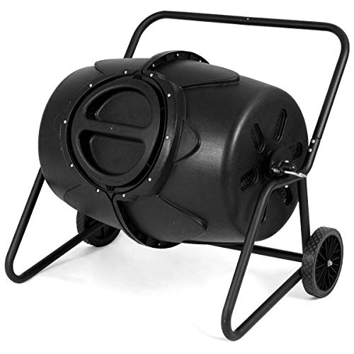 Great Deal! 50 Gallon Compost Tumbler Garden Waste Bin Grass Food Trash Barrel Fertilizer Patio Kitc...