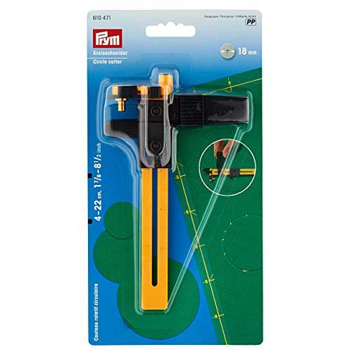 Prym Kreisschneider 18 mm, Kunststoff, Gelb