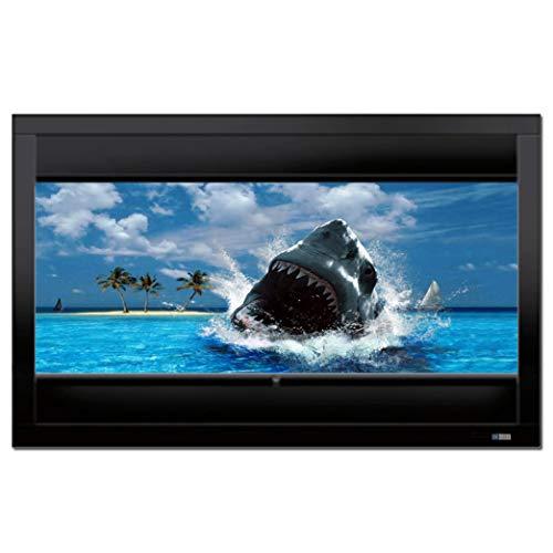 DELUXX Cinema Frame Multiformat Rahmen-Leinwand Kontrastgrau Heimkino- und Business-Beamer-Leinwand ideal für HD und UHD Inhalte mit perfekten Kontrasten - 16:9/21:9 - 266 x 149 cm