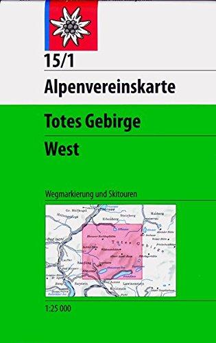 Totes Gebirge, West: Topographische Karte 1:25000, mit Wegmarkierungen und Skitouren (Alpenvereinskarten)