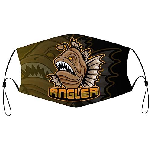 Predator Fish E Sport-Team-Schablone für Erwachsene, schwarze Borte, tragbarer Gesichtsschutz, Bandana, elastische Kante, Sturmhaube