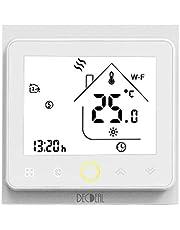 Decdeal-Termostato WiFi para Caldera de Gas/Agua Termostato Inteligente programable - Función de Control de Voz - Compatible con Alexa, Google Home - Corriente de carga 5A