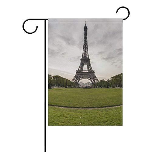 Bandera de jardín de cristal verde de la torre Eiffel bande