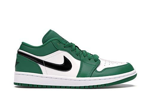 Nike Kids Grade School Air Jordan 1 Low Pine Green Basketball Shoe (4)