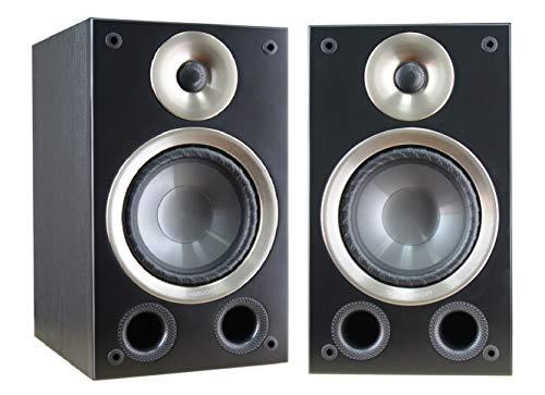"Taga Harmony AZURE B-40 v.2 6.5"" Woofer 140W RMS 2-Way Bookshelf Speaker - Black (Pair)"