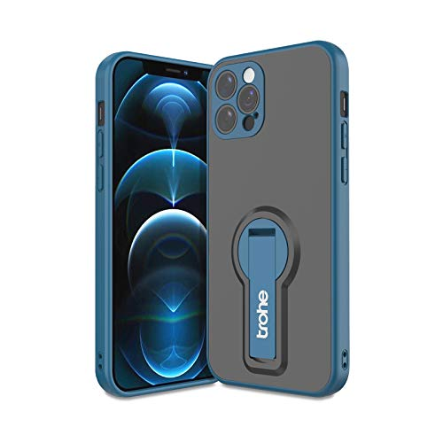 Kickstand Case for iPhone 12 Pro Max, trohe Phone Case with Stand for iPhone 12 Pro Max, Case with Lens Protection, Shockproof Anti-Fall Protective Case with Holder for iPhone 12 Pro Max 6.7 inch