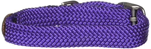 """Mendota Double Junior Collar, Purple, 9/16"""" Up to 12"""""""