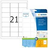 Herma 5029_ A4, 63,5 x 38,1 mm - Pack de 525 etiquetas de dirección, A4, 63.5 x 38.1 mm, color blanco
