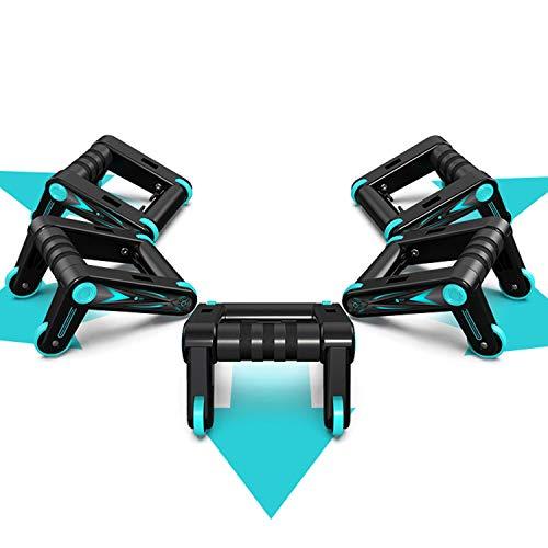 GY-Lmap 2 Unids Ruedas de Goma Rodillo Plegable de múltiples ángulos para Entrenamiento de ABS, combinación de Flexiones, Equipos de Ejercicios para Hombres y Mujeres, sin Ruido, sin daños al Piso