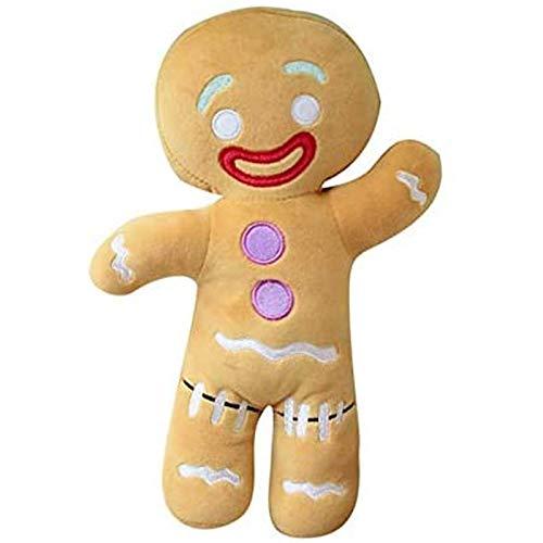 Quanshijie H peluche omino di pan di zenzero, simpatica bambola di peluche con cuscino in peluche, regalo di compleanno per bambini 30 cm 1 pz