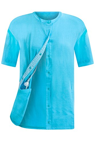 Aqua Post Surgical Recovery Tee with Internal Drain Management Pockets, 2X-Large