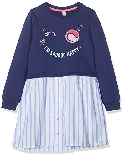ESPRIT KIDS Mädchen RP3106307 Knit Dress LS Kleid, Blau (Marine Blue 446), (Herstellergröße: 116+)