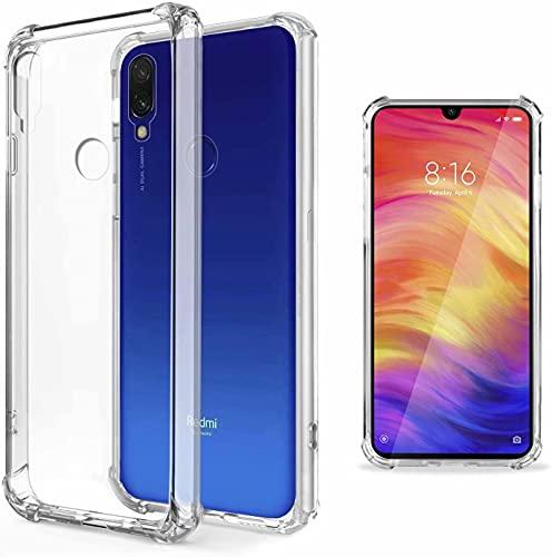 YaMiDe Funda Xiaomi Redmi 7, Compatible con Xiaomi Redmi Y3, con Dos Protectores de Pantalla, parachoque colchón de Aire, Funda de TPU Suave y Transparente