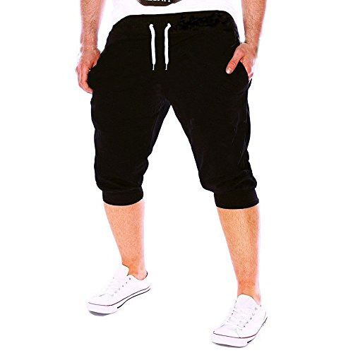 Sport Shorts Herren Bermuda Hose Harem Trousers Caprihosen Sommer Jeans 3 4 Hose Herren Jeans Kurze Hosen Sommer Sweatpants Men