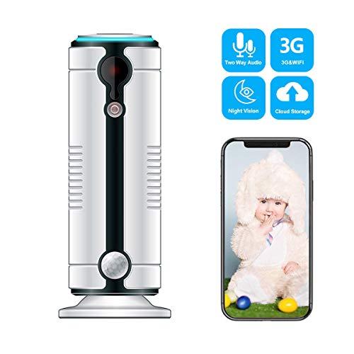 3G Cámara de Vigilancia, Toptellite Cámara IP WiFi de Interior Inalámbrica, para móvil con Video Monitor de bebés con Vigilancia de Audio Bidireccional Detección de Movimiento Visión Nocturna