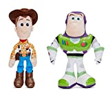 Toy Story - Pack 2 Peluches 11'80'/30cm Sheriff Woody, el Vaquero + Buzz Lightyear Calidad Super Soft