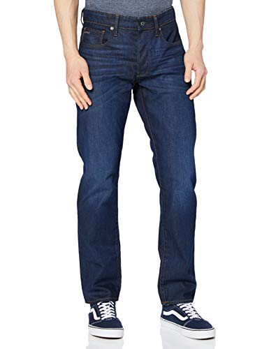 G-STAR RAW Herren Jeans 3301 Straight Classic, Blau, 36W/34L
