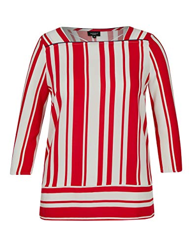 Bexleys Woman by Adler Mode Damen Bluse Streifen weiß/rot 48