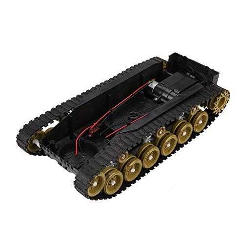 Kunststof schokabsorberende tank robot chassis DIY kit met DC260 motor 4V-9V grote kettingvering video auto kettingchassis Smart Car geel