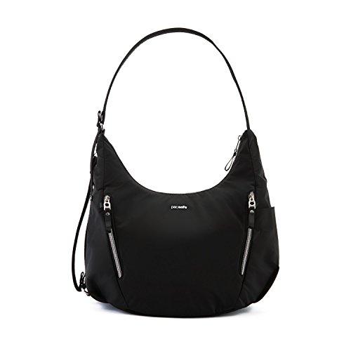 Pacsafe Stylesafe Convertible Crossbody und Schultertasche, Umhängetasche für Damen, Handtasche mit Diebstahlschutz, Sicherheits-Features - 10 Liter, Uni, Black / Schwarz