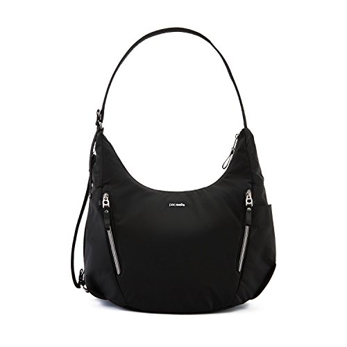 Pacsafe Women's Stylesafe 10L Anti Theft Convertible Crossbody, Black