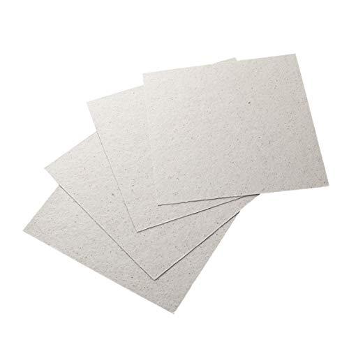 Angoily 12 Piezas de Cubierta de Guía de Onda para Horno de Microondas Piezas de Reparación de Placas de Mica (5. 1 Pulgada X 5. 1 Pulgada)