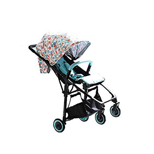 JIAO Carrito de bebé Cochecito de bebé Cochecito Puede Sentarse Cuatro Ruedas Plegable Cochecito de bebé Cochecito de bebé