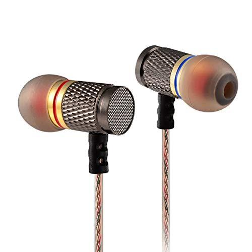 Kz-Edr1 Auriculares deportivos de alta fidelidad con controlador de cobre Auriculares internos para correr sin micrófono Auriculares con cancelación de ruido (marrón)