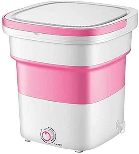 YYANG Mini Lavadora, Lavadora portátil con Mango, desinfección de ozono, máquina de Limpieza ultrasónica, pequeño Plegado automático de Estilo Interior (Color: Verde) (Color : Pink)