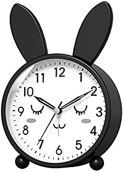 Kpin Silent Non -Ticking Analog Cute Alarm Clock