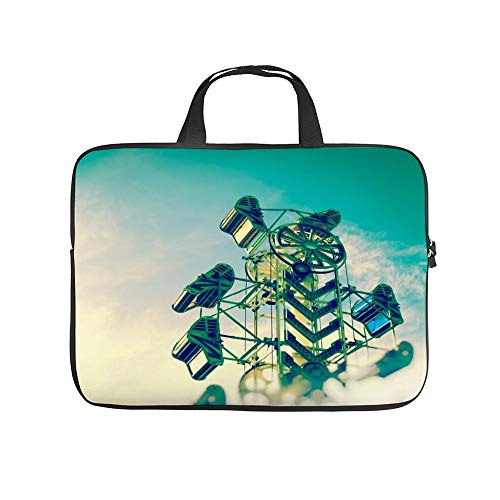 Neoprene Sleeve Laptop Handle Bag Handbag Notebook Case Cover Up And Away - Carnival Ride Photography Portable MacBook Laptop/Ultrabooks Case Bag Cover 13-13.3 Inch